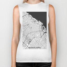 Buenos Aires City Map Gray Biker Tank