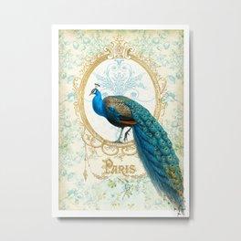 Paris Peacock Metal Print