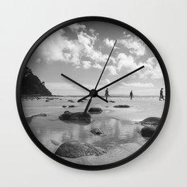 Whangapoua Beach walk heading to New Chums on the Coromandel Peninsula Wall Clock
