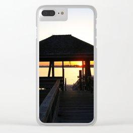 Norwalk, Sheffield Island, Sunset, Connecticut Clear iPhone Case