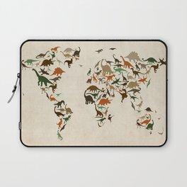 Dinosaur Map of the World Map Laptop Sleeve