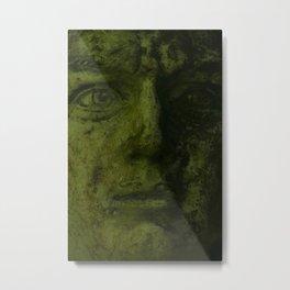 Green Man Sculpture Donegal Metal Print
