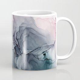 Blush and Paynes Gray Flowing Abstract Reflect Coffee Mug