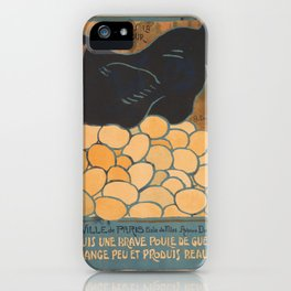 Vintage poster - I am a Fine War Hen iPhone Case