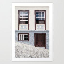 Building and street. La Palma, Canary Island. Art Print