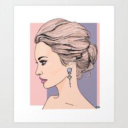 Royal messy bun Art Print