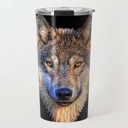 Midnight Wolf Travel Mug