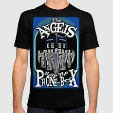 The Angels Have The Phonebox! | Dr. Who Black Mens Fitted Tee 2X-LARGE