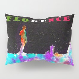 Florence Italy Skyline - With Banner Pillow Sham