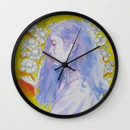 Purple Daze Wall Clock