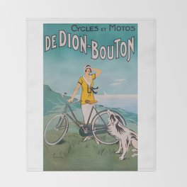 De Dion-Bouton, advertisement vintage poster Throw Blanket