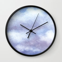 Clouds Watercolor  Wall Clock