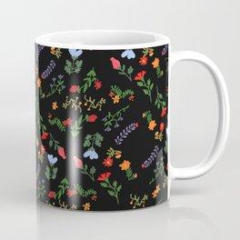 Dark Flower Pattern Coffee Mug