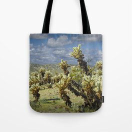 Cactus called teddy bear cholla No.0265 Tote Bag