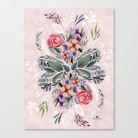 Flower love Canvas Print