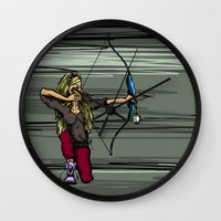 archer Wall Clocks featuring Archer by Natalie Easton