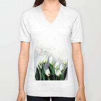 tulips V-neck T-shirts featuring Tulips by Bridget Davidson