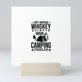 Love Whiskey and Camping! Mini Art Print