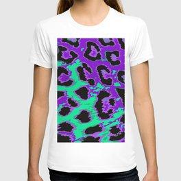 Aqua and Violet Leopard Spots T-shirt