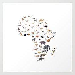 Wild Africa Art Print