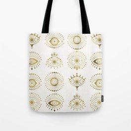 Evil Eyes – Gold Palette Tote Bag