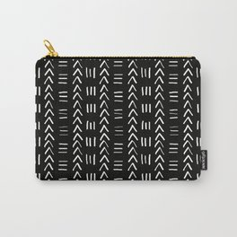 Mudcloth No.2 in Black + White Carry-All Pouch