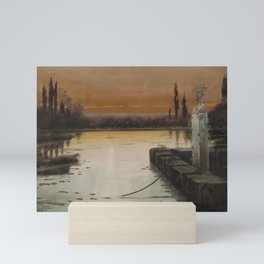 Enrique Serra Evening mood in the Pontine Marshes Mini Art Print