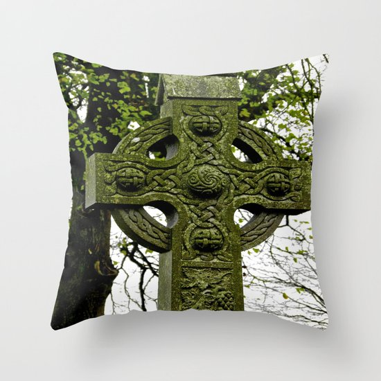 Celtic Cross at Monasterboice Throw Pillow
