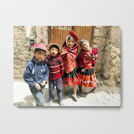 Peruvian Children Metal Print