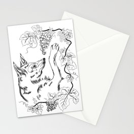 The Fox and Grapes Stationery Cards