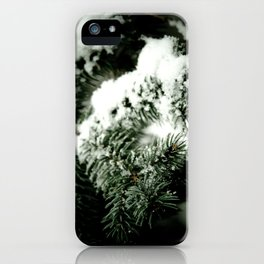 Evergreen and white iPhone Case