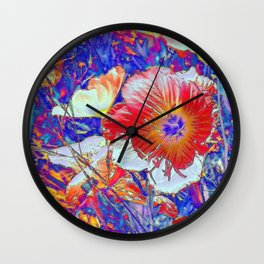 The Wildflowers. © J&S Montague. Wall Clock