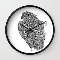 hawk Wall Clocks featuring Hawk by kayse wieneke