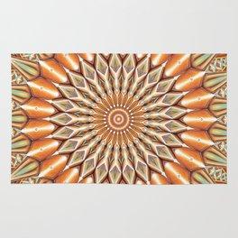 Heart of the Sunflower - Mandala Art Rug