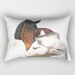Horses in Love Rectangular Pillow