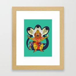 Narasimha - Half Man, Half Lion, All Vengeance! Framed Art Print