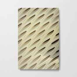 The Broad In the Afternoon Vintage Retro Pattern Photography I Metal Print
