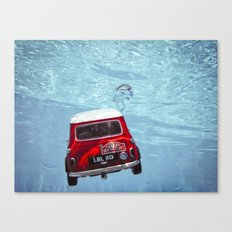 deep water swimming mini #1 Canvas Print