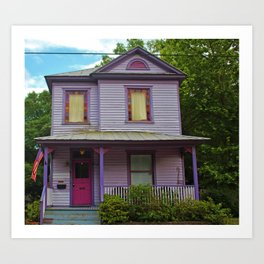 Quirky Purple House Art Print