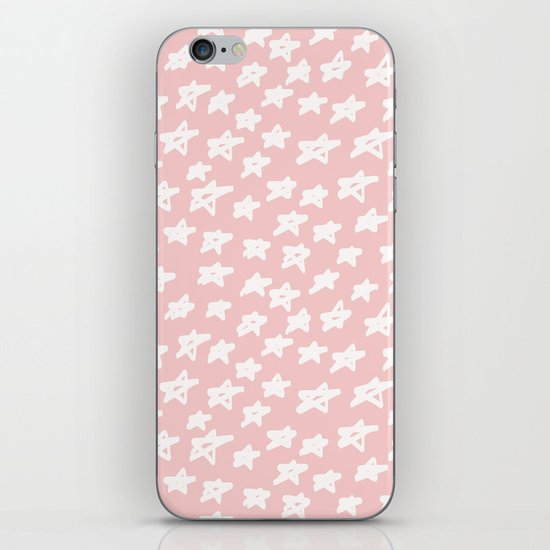 Stars on pink background by lavieclaire