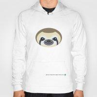 sloth Hoodies featuring Sloth by Mirukuru