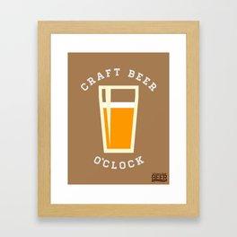 Craft Beer O'Clock Framed Art Print