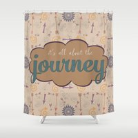 journey Shower Curtains featuring Journey by Skuishy
