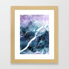 Purple abstract marble Framed Art Print