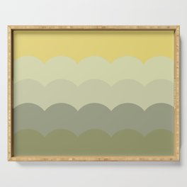 BROOKE YELLOW - Mid Century Modern Abstract Pattern Graphic Design Serving Tray