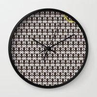 221b Wall Clocks featuring 221B Baker Street's Wall by nishasdk
