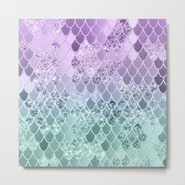 Mermaid Glitter Scales #1 #shiny #decor #art #society6 Metal Print