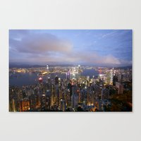 hong kong Canvas Prints featuring Hong Kong by iamkin