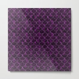 Purple Haze Mermaid Scales Metal Print