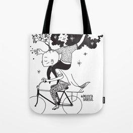 Espalhando Amor - Bicicleta Girassol Tote Bag